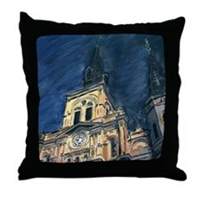 French Quarter Cathedral Throw Pillow