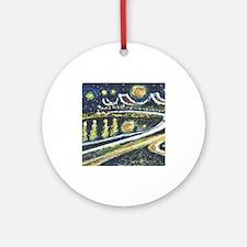 Starry Night Bridge Ornament (Round)