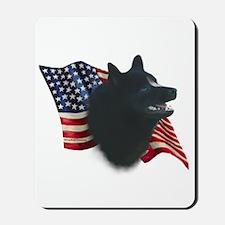 Schipperke Flag Mousepad