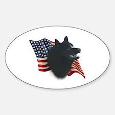 Schipperke Flag Oval Decal