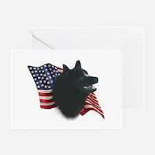 Schipperke Flag Greeting Cards (Pk of 10)