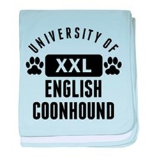 University Of English Coonhound baby blanket