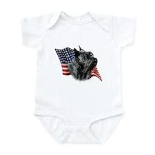 Scotty(blk) Flag Infant Bodysuit