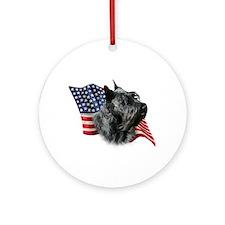 Scotty(blk) Flag Ornament (Round)