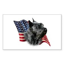 Scotty(blk) Flag Rectangle Decal