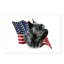 Scotty(blk) Flag Postcards (Package of 8)