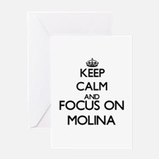 Keep calm and Focus on Molina Greeting Cards