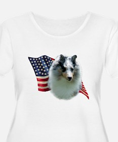 Sheltie(mrl) Flag T-Shirt