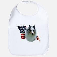 Sheltie(mrl) Flag Bib