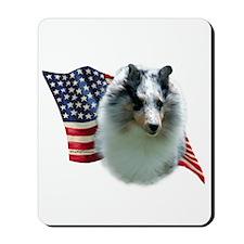 Sheltie(mrl) Flag Mousepad