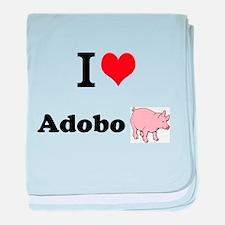 I luv Adobo - baby blanket