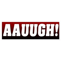 Post Election Scream Bumper Bumper Sticker