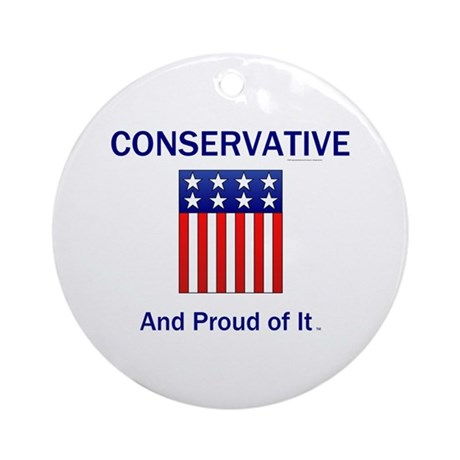 Conservative Slogan Ornament (Round)