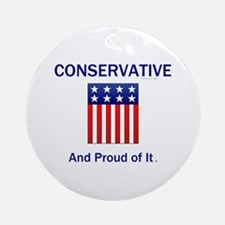 Conservative Slogan Round Ornament