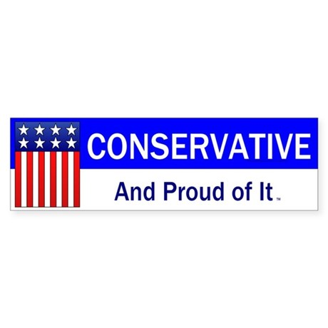 Conservative Slogan Sticker (Bumper)
