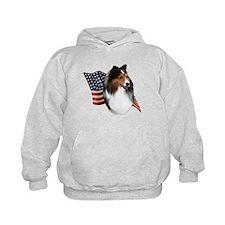 Sheltie(sbl) Flag Hoodie
