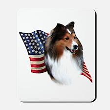 Sheltie(sbl) Flag Mousepad