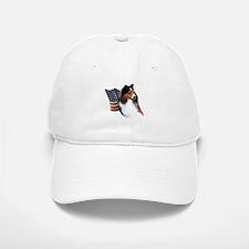 Sheltie(sbl) Flag Baseball Baseball Cap
