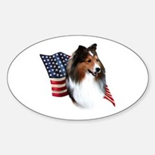 Sheltie(sbl) Flag Oval Decal