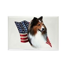 Sheltie(sbl) Flag Rectangle Magnet