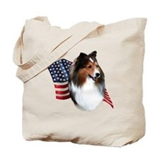 Sheltie(sbl) Flag Tote Bag