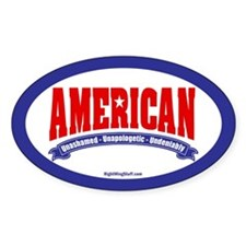 Undeniably American Oval Decal