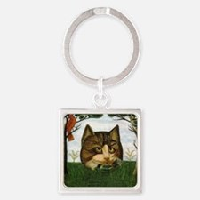 Cat art Square Keychain