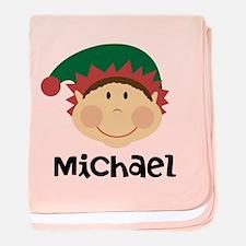 Personalized Christmas Elf baby blanket