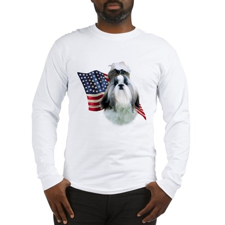 Shih Tzu Flag2 Long Sleeve T-Shirt
