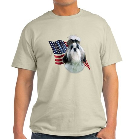Shih Tzu Flag2 Light T-Shirt
