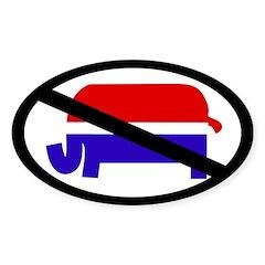 Anti-Republican Bumper Decal