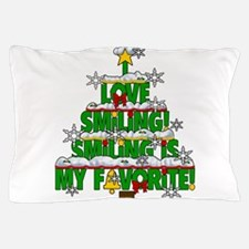 I LOVE SMILIN SNOW FLAKES CAFE BEST.pn Pillow Case