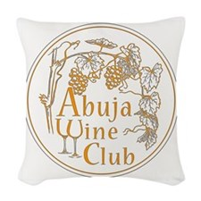 Abuja Wine Club With Grapes - Woven Throw Pillow