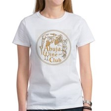 Abuja Wine Club with Grapes - Orange T-Shirt