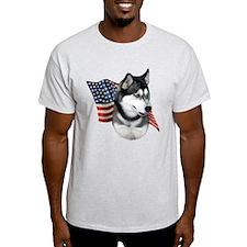 Husky(blk) Flag T-Shirt
