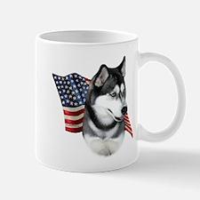 Husky(blk) Flag Mug