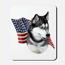 Husky(blk) Flag Mousepad