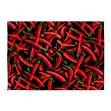 Red Chili Pepper Pattern 5'x7'Area Rug