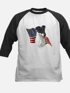 Smooth Fox Flag Kids Baseball Jersey