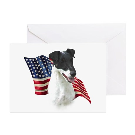 Smooth Fox Flag Greeting Cards (Pk of 10)