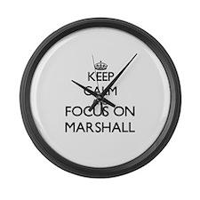 Keep calm and Focus on Marshall Large Wall Clock
