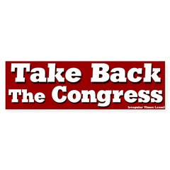 Take Back the Congress Bumper Bumper Sticker