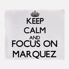 Keep calm and Focus on Marquez Throw Blanket