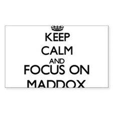 Keep calm and Focus on Maddox Decal