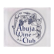 Abuja Wine Club With Grapes - Navy Throw Blanket