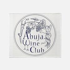 Abuja Wine Club With Grapes - Navy Throw Blanket