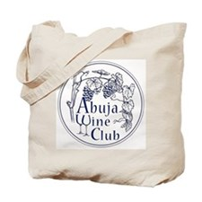 Abuja Wine Club with Grapes - Navy Tote Bag