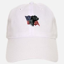 Staffy Flag Baseball Baseball Cap