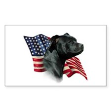Staffy Flag Rectangle Decal