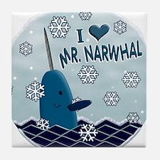 MR NARWHAL copy 4print.png Tile Coaster